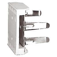 2 clips fixation plinthe sur pied ø28 mm