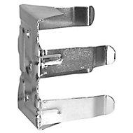 2 clips fixation plinthe sur pied, sans support ø28 mm