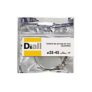 2 colliers de serrage Diall inox L8 x ø25 - 45 mm