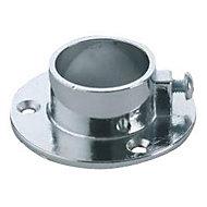 2 naissances aluminium chromé pour tringle de penderie Ø2,5 cm