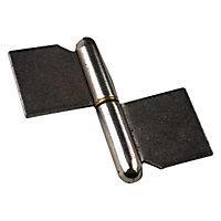 2 paumelles de grille à souder Diall 100 mm