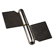2 paumelles de grille à souder Diall 80 mm
