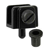 2 pivots pour porte en verre l. 20 mm x H. 16 mm