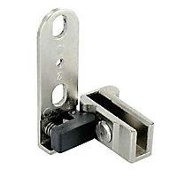 2 pivots pour porte verre Métal nickelé l.36 x H.16mm