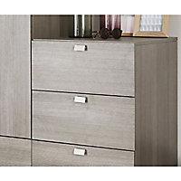 2 poignées obliques de meuble petit modèle aluminium champagne brossée FORM Darwin 6,8 cm