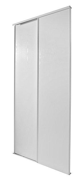 2 Portes De Placard Coulissantes Blizz Blanc Veiné 150 X 250 Cm Castorama