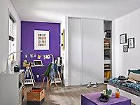2 portes de placard coulissantes Blizz blanc veiné 180 x 250 cm