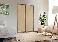 2 portes de placard coulissantes Elegancia décor chêne 120 x 250 cm