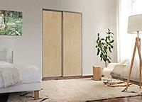 2 portes de placard coulissantes Elegancia décor chêne 150 x 250 cm