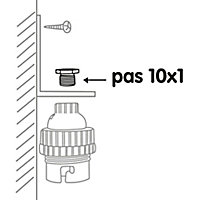 2 raccords en laiton Diall 6 pans mâle PAS de 10 x 1