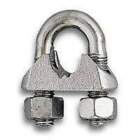 2 serre-câble étrier Diall pour ø 8 mm