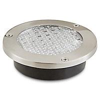 2 spots solaires à encastrer LED Blooma Glend IP65 chrome blanc froid