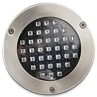 2 spots solaires à encastrer LED Blooma Glend IP65 chrome lumière bleue