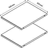 2 tablettes blanches GoodHome Atomia L. 33,9 x P.43,2 cm