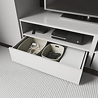 2 tablettes blanches GoodHome Atomia L. 71,5 x P.43,2 cm