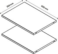 2 tablettes effet chêne GoodHome Atomia L. 46,4 x P.33,2 cm