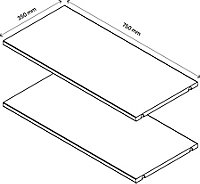 2 tablettes effet chêne GoodHome Atomia L. 71,5 x P.33,2 cm