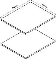 2 tablettes effet chêne grisé GoodHome Atomia L. 46,4 x P.56,2 cm