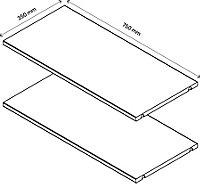 2 tablettes effet chêne grisé GoodHome Atomia L. 71,5 x P.33,2 cm