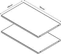 2 tablettes effet chêne grisé GoodHome Atomia L. 71,5 x P.43,2 cm