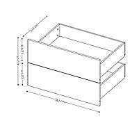 2 tiroirs couvrants chêne Form Darwin 75 cm