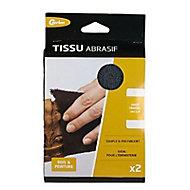 2 tissus abrasifs grains panachés