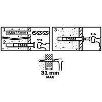 20 chevilles à frapper Diall nylon MSH PZ Ø6x60mm