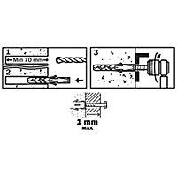 25 chevilles Diall nylon CL HX Ø12x60mm