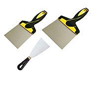 3 couteaux à enduire acier Ocai