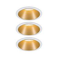 3 spots à encastrer Cole LED intégrée IP44 3x6,5 W blanc