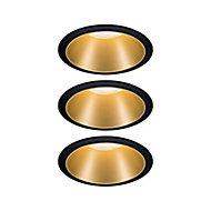 3 spots à encastrer Cole LED intégrée IP44 3x6,5 W noir