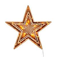 3 étoiles lumineuses 50 cm