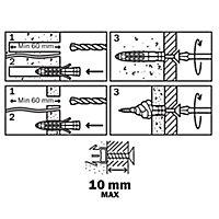 30 chevilles universelles Diall nylon CL PZ Ø10x50mm