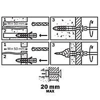 30 chevilles universelles Diall nylon CL PZ Ø8x40mm