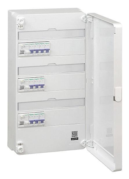 Tableau Electrique Schneider Electric Pre Equipe Et Pre Cable 3 Rangees Castorama