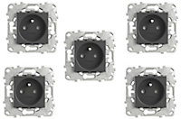 Prise 2 pôles + terres Schneider Electric Unica Anthracite - 5 pièces