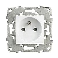 Prise 2 pôles + terres Schneider Electric Unica Blanc - 5 pièces