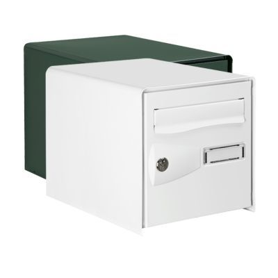 boite aux lettres 2 portes blanc castorama. Black Bedroom Furniture Sets. Home Design Ideas