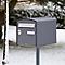 Boîte aux lettres 1 porte Decayeux Dôme Gris Quartz Ral 7039