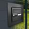 Cadre d'encastrement pour boîte aux lettres Profil+ Gris