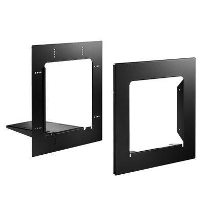 cadre d 39 encastrement pour bo te aux lettres profil noir. Black Bedroom Furniture Sets. Home Design Ideas
