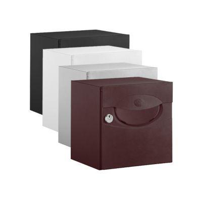 boite aux lettres demi profondeur iguane aubergine castorama. Black Bedroom Furniture Sets. Home Design Ideas
