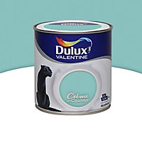 Peinture murs et boiseries Dulux Valentine Crème de couleur vert jade satin 0,5L