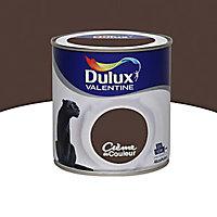 Peinture murs et boiseries Dulux Valentine Crème de couleur wengé satin 0,5L