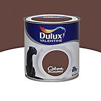 Peinture murs et boiseries Dulux Valentine Crème de couleur truffe gourmande satin 0,5L