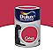 Peinture murs et boiseries DULUX VALENTINE Crème de couleur rouge madras satin 1,25L