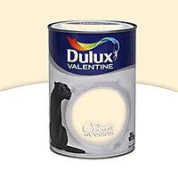 Peinture murs et boiseries Dulux Valentine Crème de couleur blanc cassé satin 1,25L