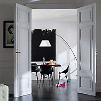 Peinture murs et boiseries Dulux Valentine Crème de couleur gris tendance satin 2,5L