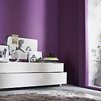 Peinture murs et boiseries Dulux Valentine Crème de couleur prune satin 2,5L