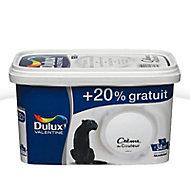 Peinture murs et boiseries Dulux Valentine Crème du couleur blanc satin 2,5L + 20% gratuit